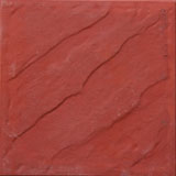 Rededing Waves 400 x 400 mm Red Color